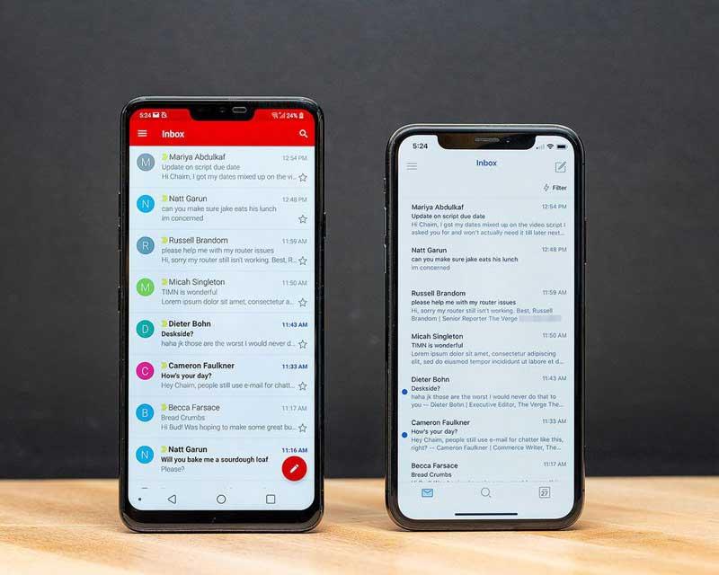 رابط کاربری در برنامههای Android و iOS