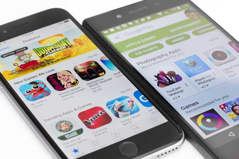 تفاوت اپلیکیشن انردوید با ios: فروشگاههای اپلیکیشن