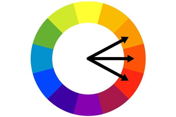 طرح رنگهای مشابه برای اپلیکیشن