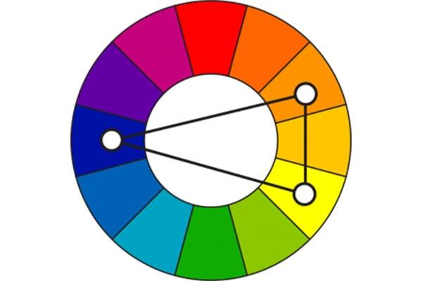 طرح رنگهای مکمل متساویالساقین برای اپلیکیشن