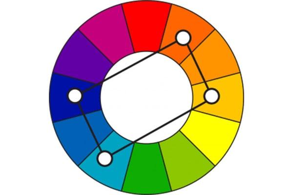 طرح رنگهای مکمل دوبل برای اپلیکیشن