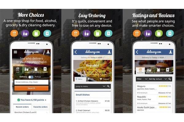 اپلیکیشن Delivery.com توسعه یافته با ری اکت نیتیو