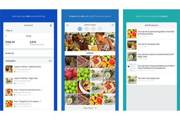 اپلیکیشن Facebook Ads Manager ساخته شده با react native