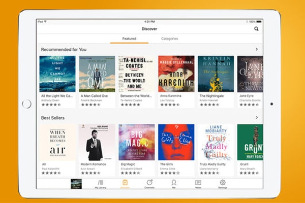 بهترین اپلیکیشنهای ios برای مطالعه و کتابخوانی: اپلیکیشن Audible
