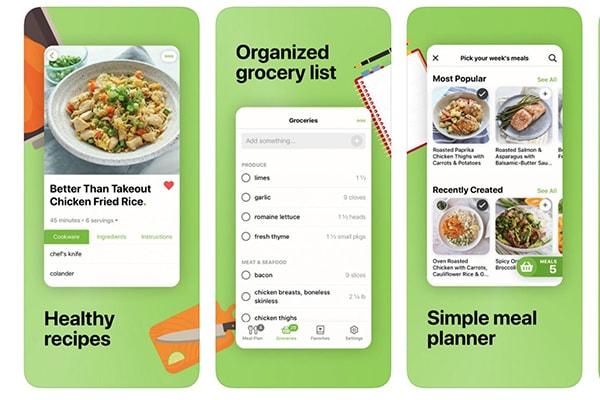 بهترین اپلیکیشن های ios برای آشپزی : اپلیکیشن Mealime