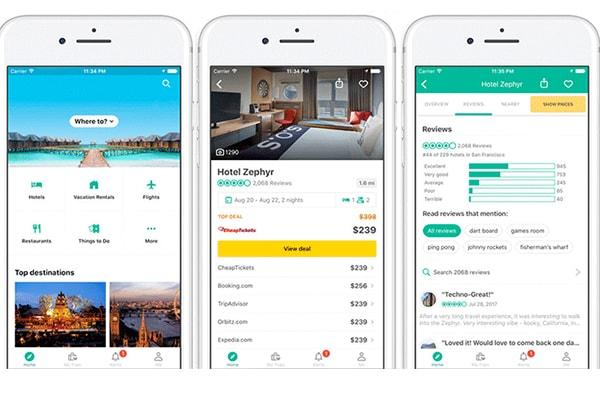 بهترین اپلیکیشن های آیفون برای سفر: اپلیکیشن TripAdvisor