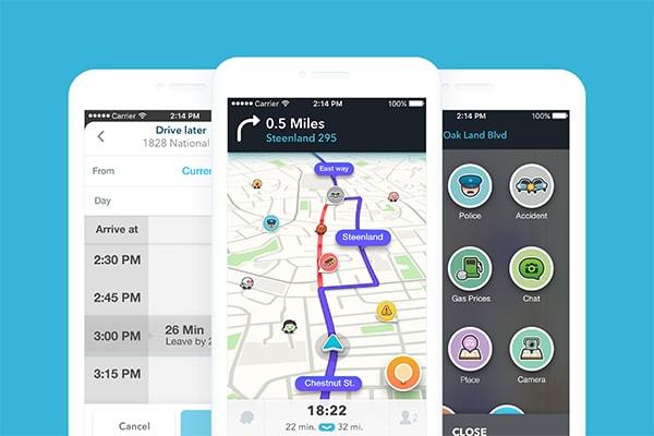 بهترین اپلیکیشن های آیفون برای سفر: اپلیکیشن Waze